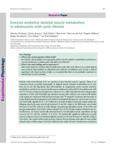 Exercise oxidative skeletal muscle metabolism ... - Wiley Online Library