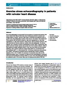 Exercise stress echocardiography in patients with ...