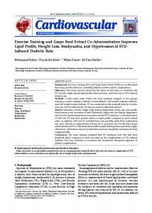 Exercise Training and Grape Seed Extract Co-Administration Improves ...