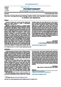 Exercise training decreases fasting insulin levels and improves insulin ...