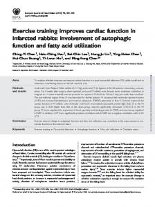 Exercise training improves cardiac function in ...