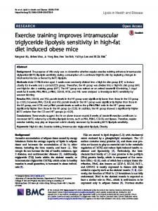 Exercise training improves intramuscular triglyceride lipolysis ...