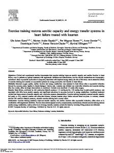 Exercise training restores aerobic capacity - Cardiovascular Research