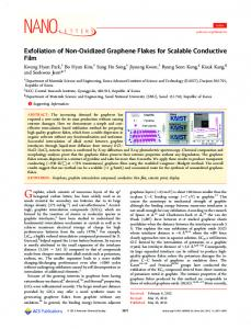 Exfoliation of Non-Oxidized Graphene Flakes for Scalable Conductive ...