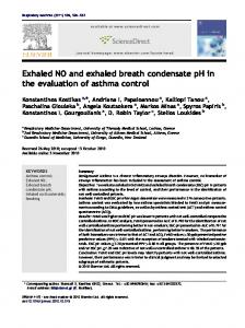 Exhaled NO and exhaled breath condensate pH in the ... - Core
