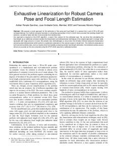 Exhaustive Linearization for Robust Camera Pose and Focal Length