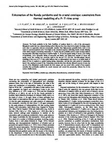 Exhumation of the Ronda peridotite and its crustal ... - Earth Sciences