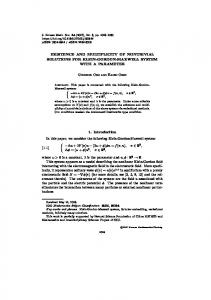 EXISTENCE AND MULTIPLICITY OF NONTRIVIAL SOLUTIONS FOR ...
