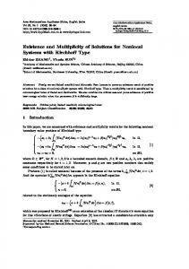Existence and Multiplicity of Solutions for Nonlocal ... - Springer Link