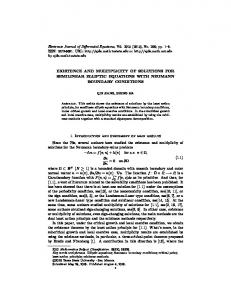 EXISTENCE AND MULTIPLICITY OF SOLUTIONS FOR SEMILINEAR ...