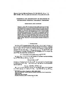 EXISTENCE AND MULTIPLICITY OF SOLUTIONS TO SUPERLINEAR ...