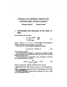 Existence and multiplicity results for the conformal ...