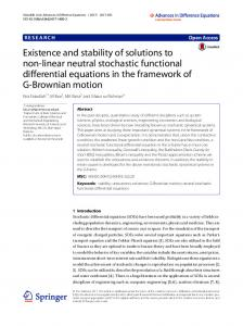 Existence and stability of solutions to non-linear