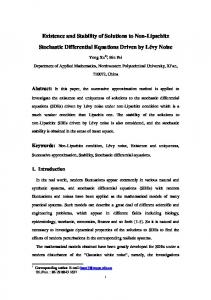 Existence and Stability of Solutions to Non-Lipschitz Stochastic ... - arXiv