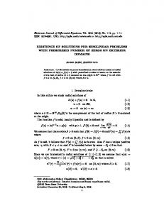 EXISTENCE OF SOLUTIONS FOR SEMILINEAR PROBLEMS WITH ...