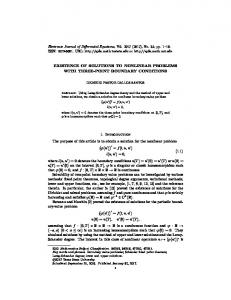 EXISTENCE OF SOLUTIONS TO NONLINEAR PROBLEMS WITH