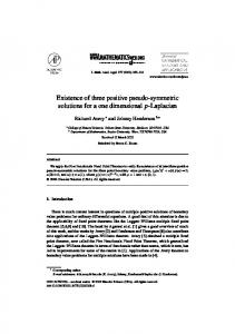Existence of three positive pseudo-symmetric solutions for a one ...
