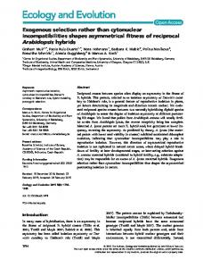 Exogenous selection rather than cytonuclear ... - Wiley Online Library