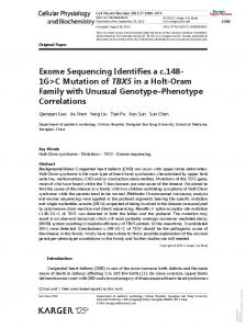 Exome Sequencing Identifies a c.148- 1G>C Mutation
