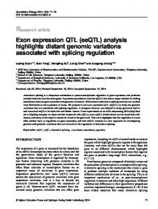 Exon expression QTL - Springer Link