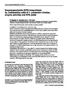 Exopolysaccharide (EPS) - Wiley Online Library