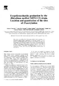 Exopolysaccharide production by the Location and ...