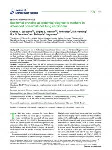 Exosomal proteins as potential diagnostic markers in advanced non ...