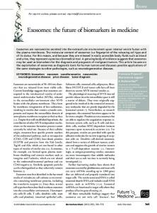 Exosomes: the future of biomarkers in medicine
