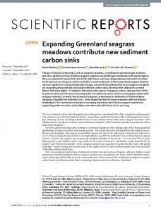 Expanding Greenland seagrass meadows contribute