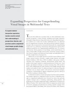 Expanding Perspectives for Comprehending Visual Images in ...