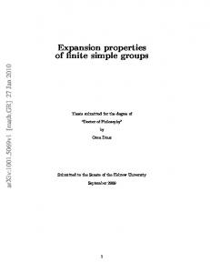 Expansion properties of finite simple groups
