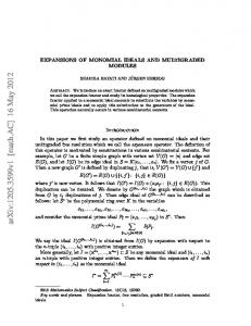 EXPANSIONS OF MONOMIAL IDEALS AND MULTIGRADED MODULES