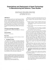 Expectations and Deployment of Agent ... - Semantic Scholar