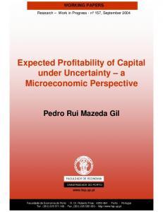 Expected Profitability of Capital under Uncertainty - FEP - Working ...