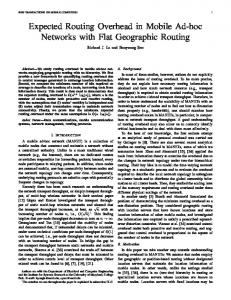 Expected Routing Overhead in Mobile Ad-hoc Networks ... - CiteSeerX