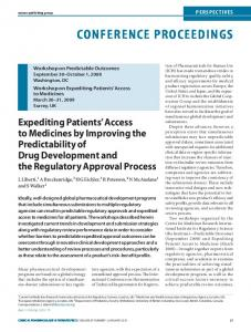 Expediting Patients' Access to Medicines by ...