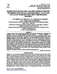 expeditious extraction and spectrophotometric determination of ...