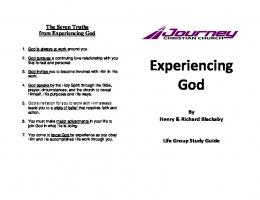 Experience God - Journey Christian Church