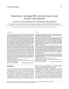 Experience in stage IB2 cervical cancer and review of treatment