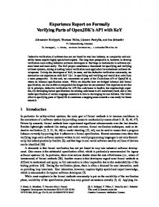 Experience Report on Formally Verifying Parts of OpenJDK's