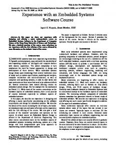 Experience with an embedded systems software course