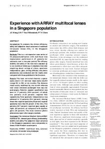 Experience with ARRAY multifocal lenses in a Singapore ... - CiteSeerX