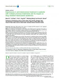 Experiences in anti-tuberculosis treatment in patients with multiple ...