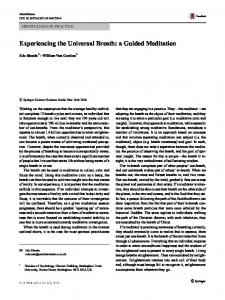 Experiencing the Universal Breath: a Guided Meditation | SpringerLink