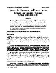 Experiential Learning - Clute Institute