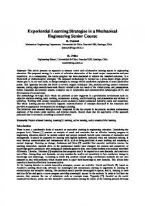 Experiential Learning Strategies in a Mechanical ... - CiteSeerX