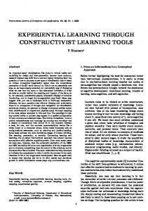 experiential learning through constructivist learning tools