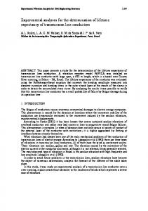 Experimental analyses for the determination of ...