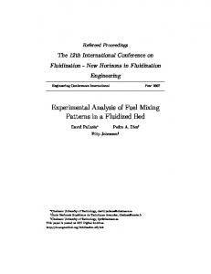 Experimental Analysis of Fuel Mixing Patterns in a Fluidized Bed
