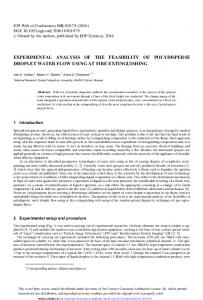 Experimental Analysis of the Feasibility of Polydisperse Droplet Water